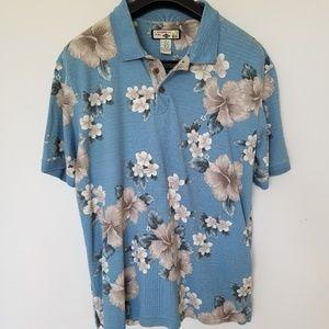 Caribbean Joe Hawaiian Shirt Button Down Men's XL